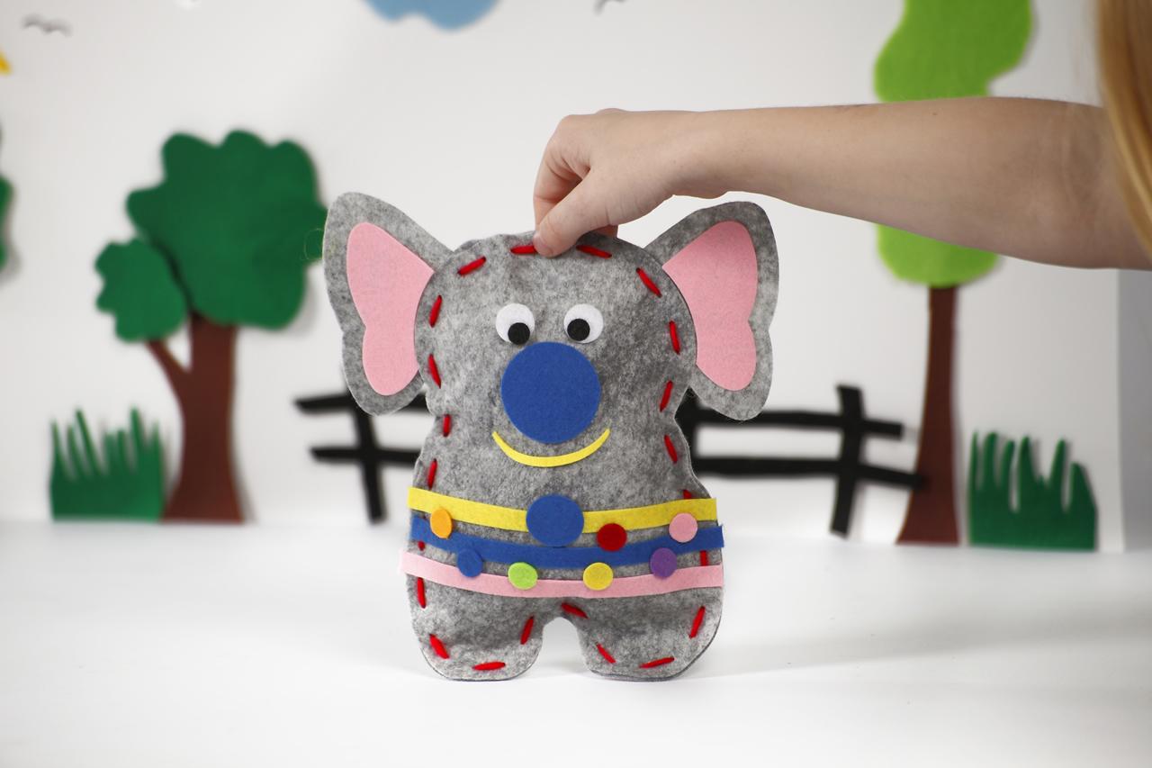 Filz-Bastelset Elefant